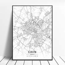 Impression hd Nice saint-etienne Caen aix-en-provence Marseille Calais France toile Art carte affiche cadre