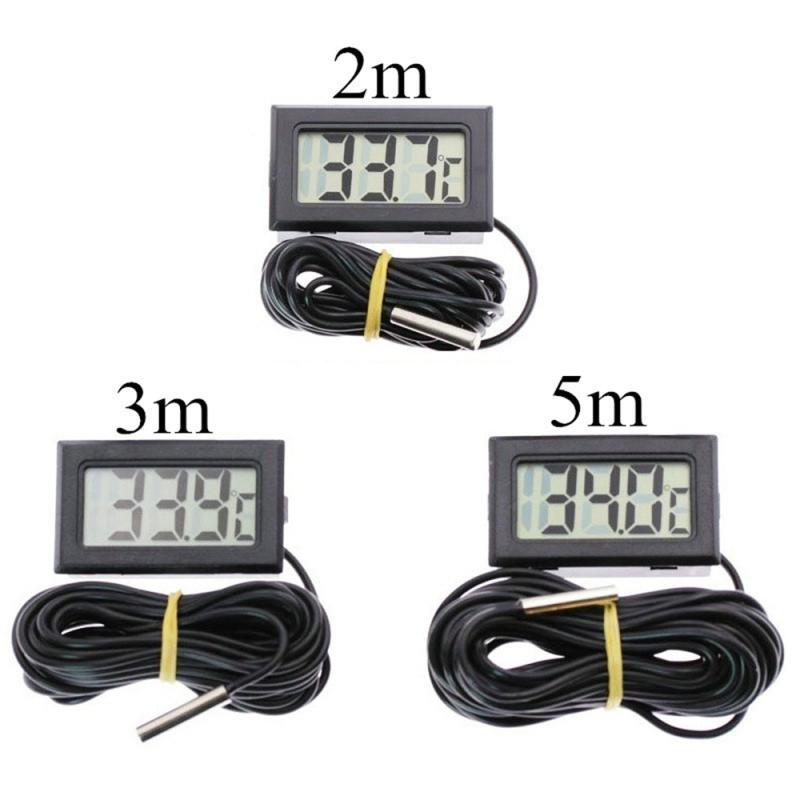 Multifunction LCD Digital Thermometer House Pet Tool Aquarium Refrigerator Water Temperature Gauge Thermometer Waterproof Probe