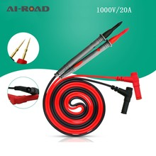 Praktische 1000 V 10A/20A Dünne Spitze Nadel Multi Meter Test Sonde Digital-Multimeter Tester Stift Kabel Draht Universal sonde Draht