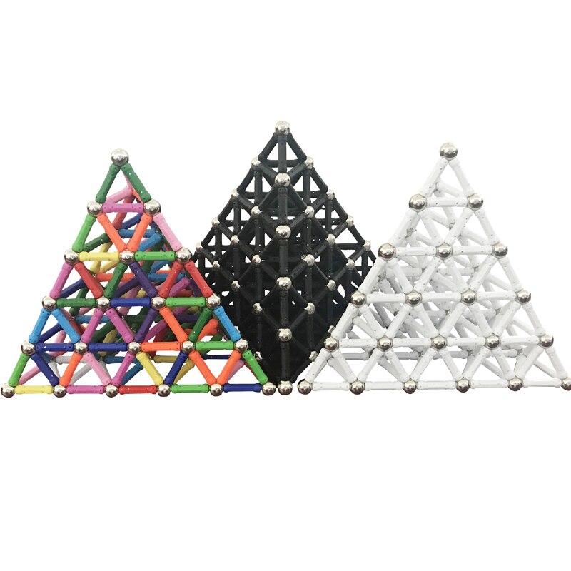 Colorido constructor magnético juguetes para niños bloques magnéticos de construcción de juguete de diseño bolas de Metal juguetes magnéticos modelos de construcción