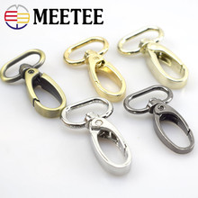 Meetee 4/10pcs 19mm Metal Bags Buckle Luggage Accessories Swivel Trigger Lobster Clasp Snap Hook Key Chain Ring Bag Parts