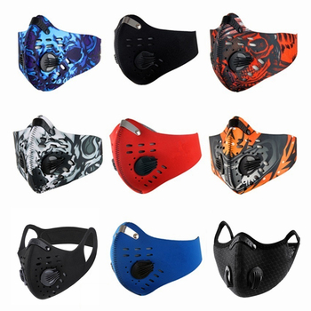 Fast Ship Colorful Men Women Anti Pollution Face Mask Activated Carbon Filter for PM 2.5 Dust Proof Training Shield Mouth Masks