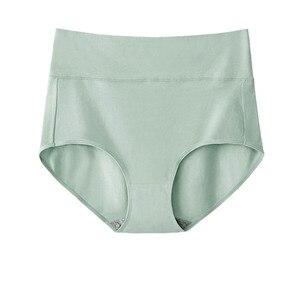Image 3 - 5 sztuk/zestaw Plus rozmiar majtek bawełniane majtki dla kobiet bielizna wysokiej talii kalesony antybakteryjne bielizna kobiet bliscy M ~ 4XL