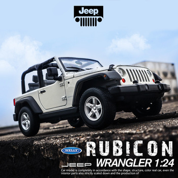 WELLY 1:24 Jeep Wrangler   car alloy car model simulation car decoration collection gift toy Die casting model boy toy welly 1 24 jaguar f pace car alloy car model simulation car decoration collection gift toy die casting model boy toy