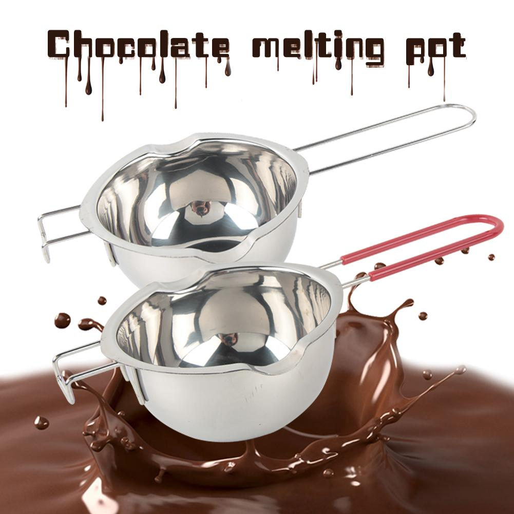 Нержавеющая сталь, шоколадный горшок, двойная кастрюля, молочная чашка, масло, конфета, изоляция, кондитерские инструменты для выпечки, маленький большой размер, 400 мл/600 мл