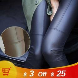 Homophony Fashion Faux Leather PU Leggings Women Sexy High Waist Long Pants Women Clothing Leginsy Damskie Leggins Mujer