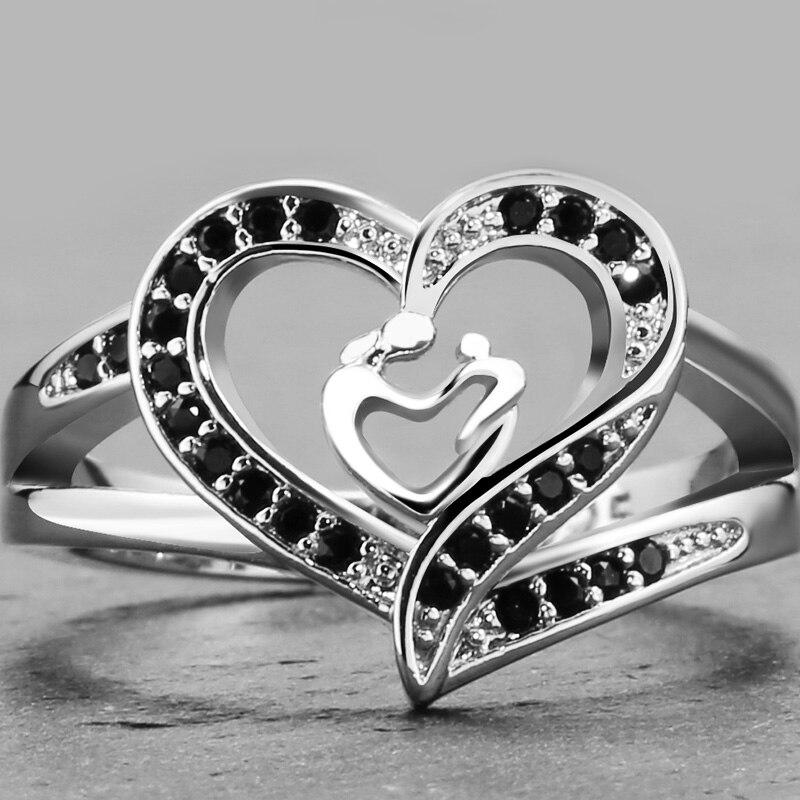 925 Sterling Silver Dark Blue Ring For Women Best Christmas Gift PR036