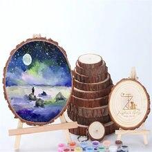 Tranches de bois rondes naturelles de grande taille 1/2 pièces pour enfants, jouets bricolage, peinture, décoration de mariage ou de maison, meubles faits à la main