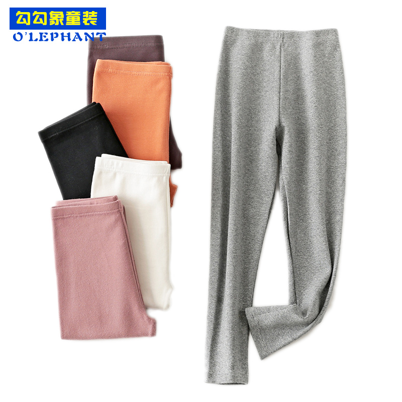 Solid Thermal Pants Kids Cotton Strectch Thermo Underwear For A Boy Brief Children's Winter Underwear Trousers Baby Girl Clothes
