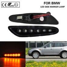 цены Clear lens+black reflector Amber LED Side Marker Light Lamp T10 plug for BMW E46 E60 E61 E81 E82 E83 E87 E88 E90 E91 E92 E93