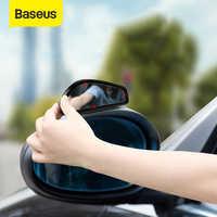 Baseus 1 par carro espelho de ponto cego retrovisor do carro espelho auxiliar hd grande vista vidro convexo grande angular espelho retrovisor