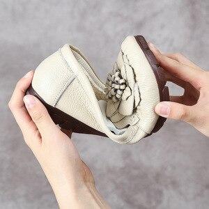 Image 5 - Модные женские туфли GKTINOO 2020 из натуральной кожи, лоферы, женская повседневная обувь, мягкая удобная обувь, женские туфли на плоской подошве с цветами