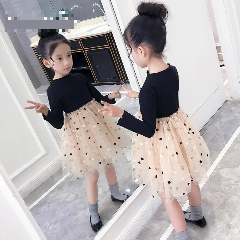 2019 enfants filles robe automne enfants robe à manches longues robe de mariée pour fille enfants bébé princesse robe Meisjes Kleding 10 12 14