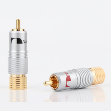8 Pcs R1716 Nakamichi RCA Plug Audio Cable Connector 24K Glod  Plated+ Shipping Free +100% New