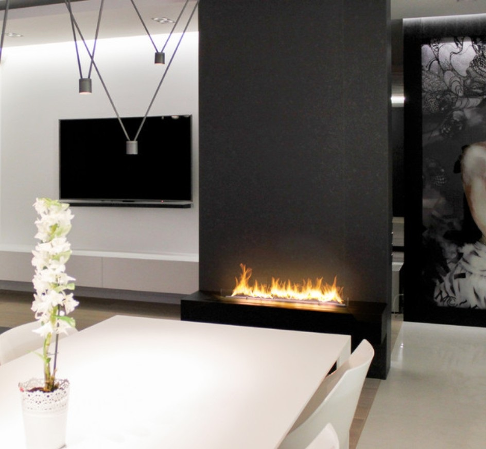 Inno Living 30 Inch Real Flame Electric Fireplace Bioethanol