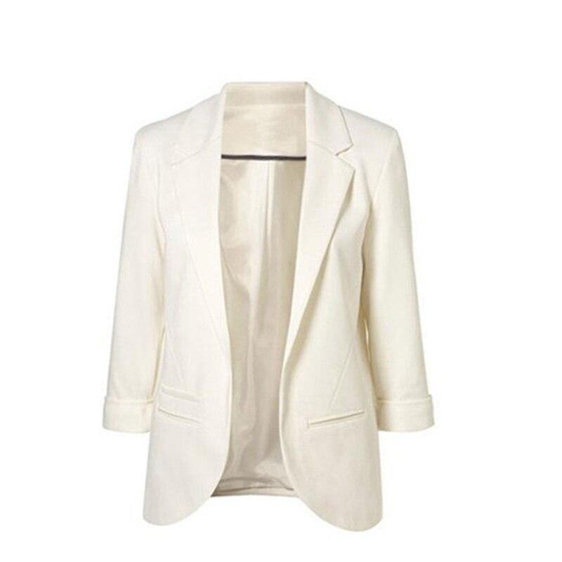 Fashion Women Blazer Cropped Sleeve Suit Women Clothing Business Suits Spring Autumn All-match Blaser Feminino Blazer Mujer 2019