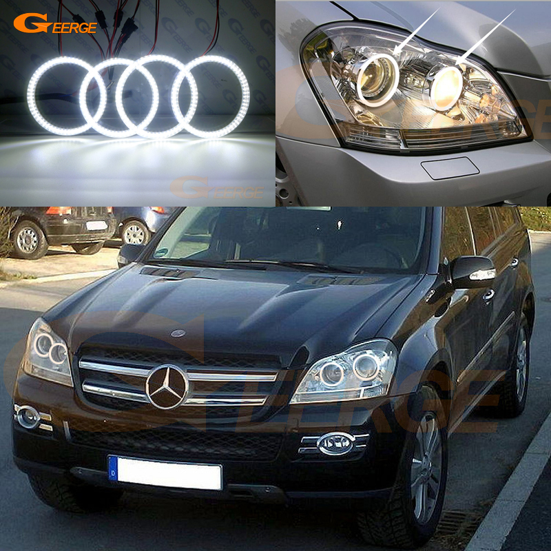 For Mercedes Benz GL Class X164 GL350 GL420 GL450 GL500 GL550 Excellent Ultra Bright Smd Led Angel Eyes Kit DRL