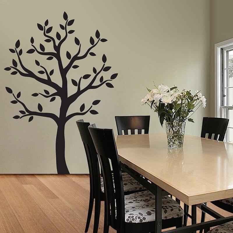 Sticker mural arbre sticker bois Artbox grand arbre noir sticker mural-la décoration facile à appliquer et étonnante pour votre maison A7-035