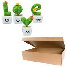 Adornos creativos con forma de Cactus, bonsái decorativo, 4 Uds.