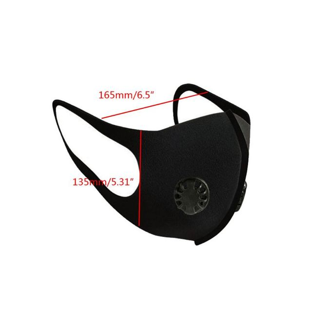 3Pcs Anit-Flu Protective Double Air Filtering Face Mask Anti Dust Smoke Reusable Mouth Mask Breathable Washable Unisex 5
