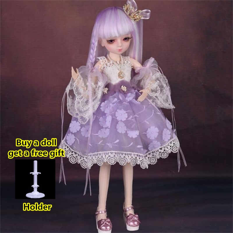 18 Movable Joints BJD Doll 1/4 With Full Outfits Wigs Shoes official Makeup Ball Jointed Dolls collection kids toys Christmas gi 17
