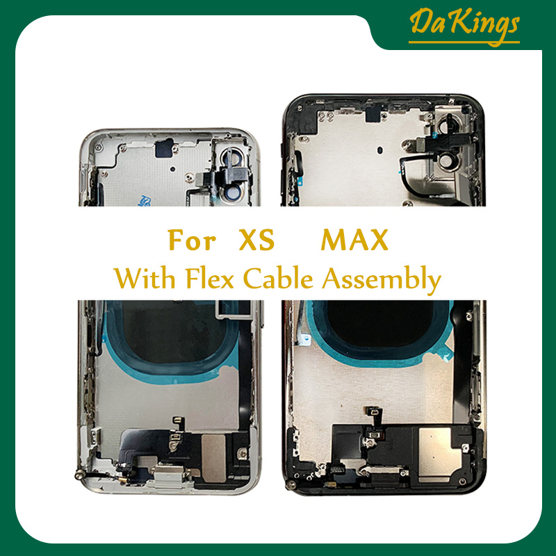 Para o iphone x caixa traseira da bateria habitação completa porta traseira quadro médio chassis com vidro + vidro traseiro com cabo flexível ce eua