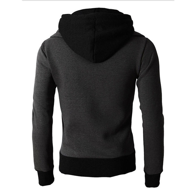 2020 Autumn Men Hooded Coat Men Fake Two-piece Hoodies DC Zipper Pullover Jacket Male Winter Cotton Thick Warm Man Clothing Tops 5