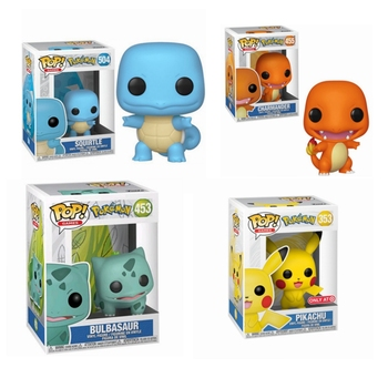 Funko POP Pikachu 353# Bulbasaur 453# Charmander 455# SQUIRTLE 504# Figures Toys Vinyl Doll Collection Models for Kids Gift