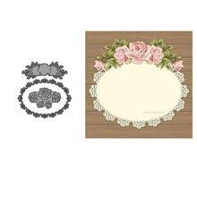 Corte de metal dados quadro da flor dados cartão fazer estêncil scrapbooking diy artesanato cortar papel decro gravação molde alta qualidade