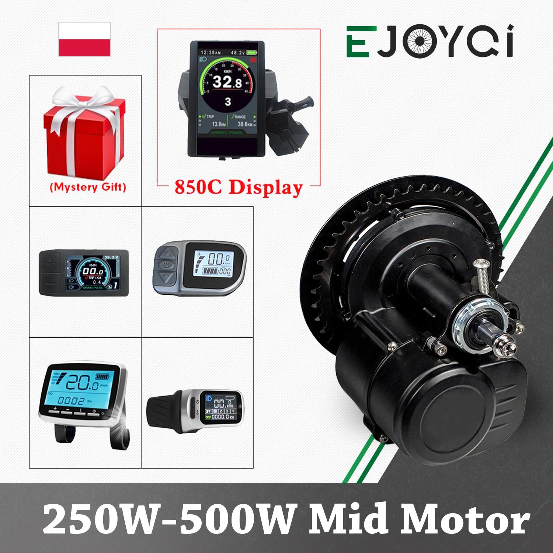 TSDZ2 Tongsheng 850C дисплей 36 в 48 в 250 Вт 500 Вт датчик крутящего момента Средний привод мотор электрический велосипед электровелосипед комплект прео...