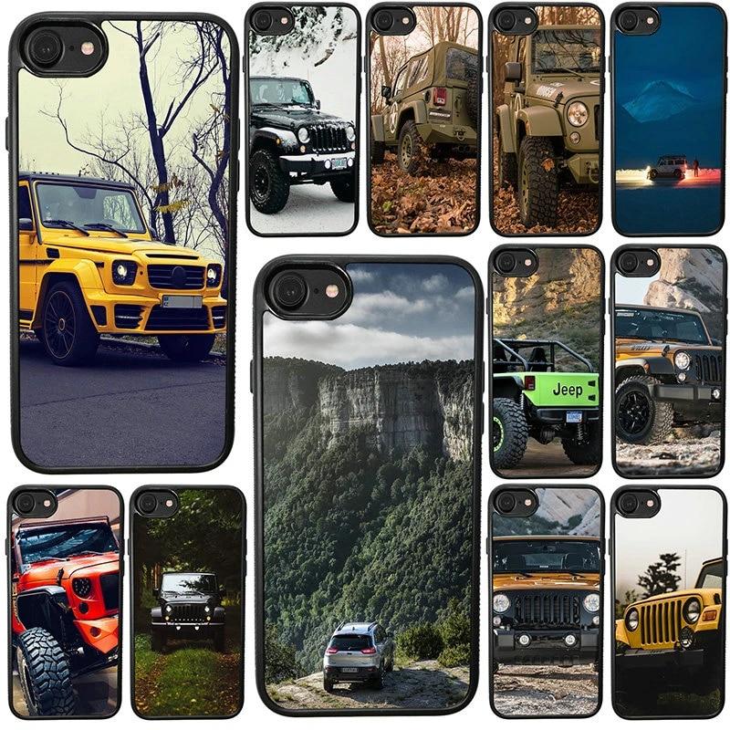Coque de téléphone portable Jeep Wrangler, étui en plastique dur pour iphone 8 7 6 6S Plus X XR XS 11 12 Pro Max 5s 5 SE 4 4s