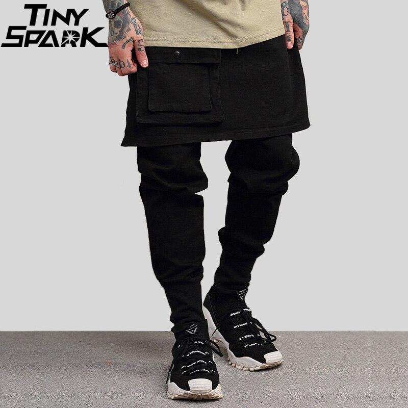 Hip Hip Pant Streetwear Men Harajuku Cargo Pant Denim Baggy Joggers Pant 2019 Sring Hipster Long