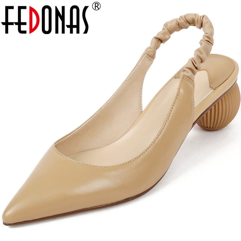 FEDONAS New Arrival Women Brand Design Pointed Toe Pumps Spring Summer Strange Heels Shoes  Patent Leather Shoes Woman