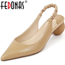 FEDONAS New Arrival Women Brand Design Pointed Toe Pumps Spr