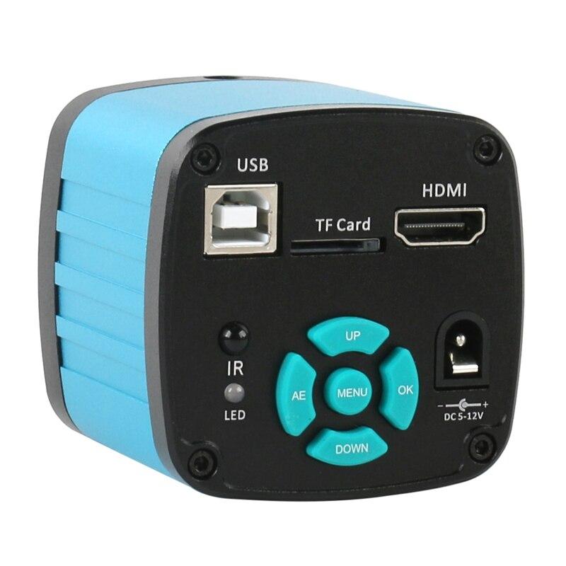 HDMI LED Industrial Recorder Electronic Microscopio Video Camera Microscope Soldering C 144 1080P HD Mount Light 130X USB 2K