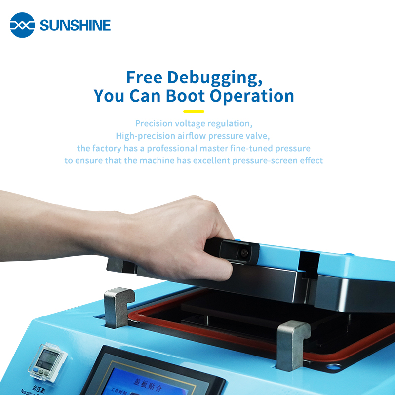 Sunshine S-959E LCD screen glass laminating machine For ip&samsung mobile phone repair built-in vacuum pump and air compressor