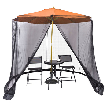 300x230cm pokrowiec na parasol moskitiery ekran przeciw owadom siatki moskitiery zamknięcie na zamek błyskawiczny ogród pomost osłona z siatki tanie i dobre opinie Poli bawełna