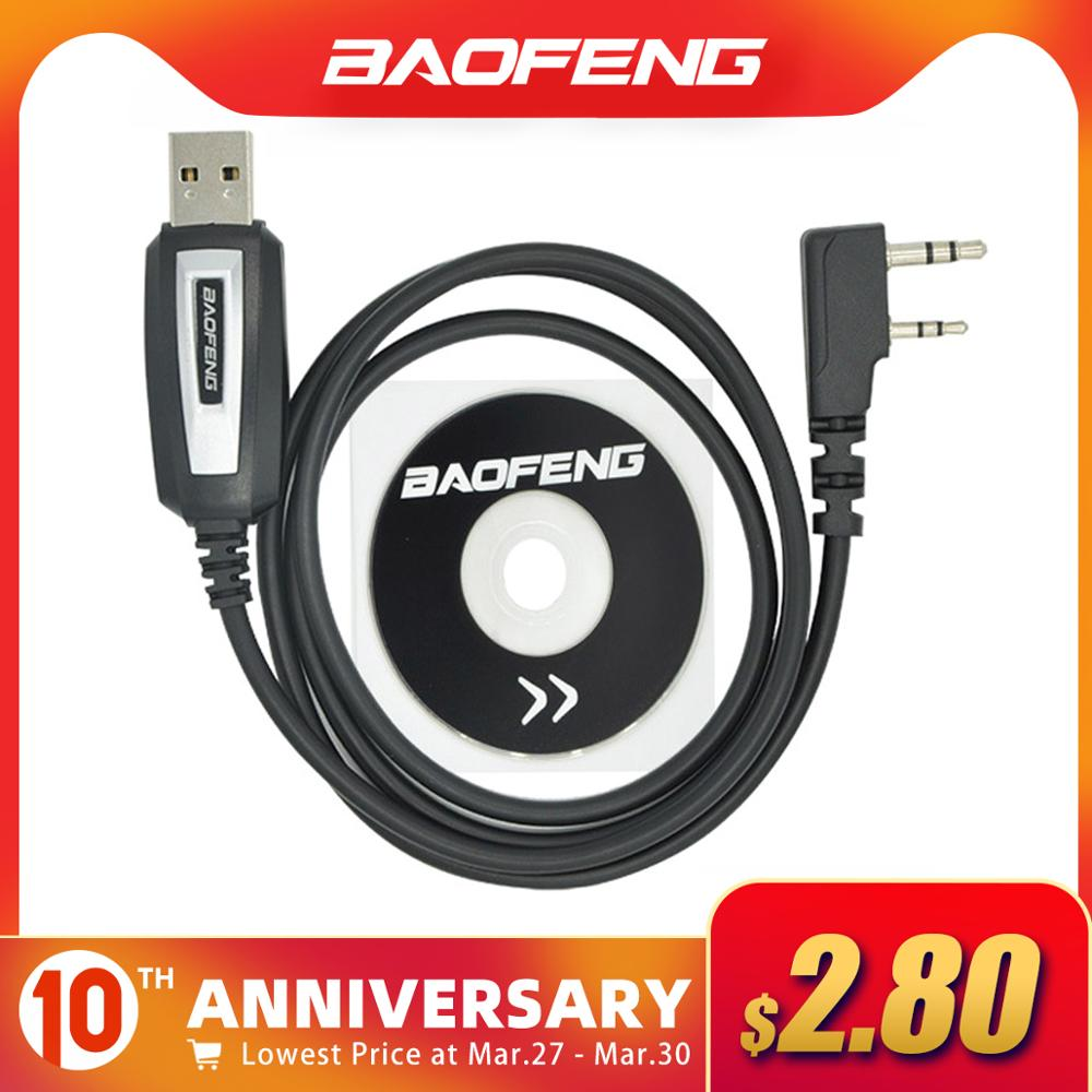 Baofeng USB Programming Cable UV-5R CB Radio Walkie Talkie Coding Cable K Port Program Cord For BF-888S UV-82 UV 5R Accessories