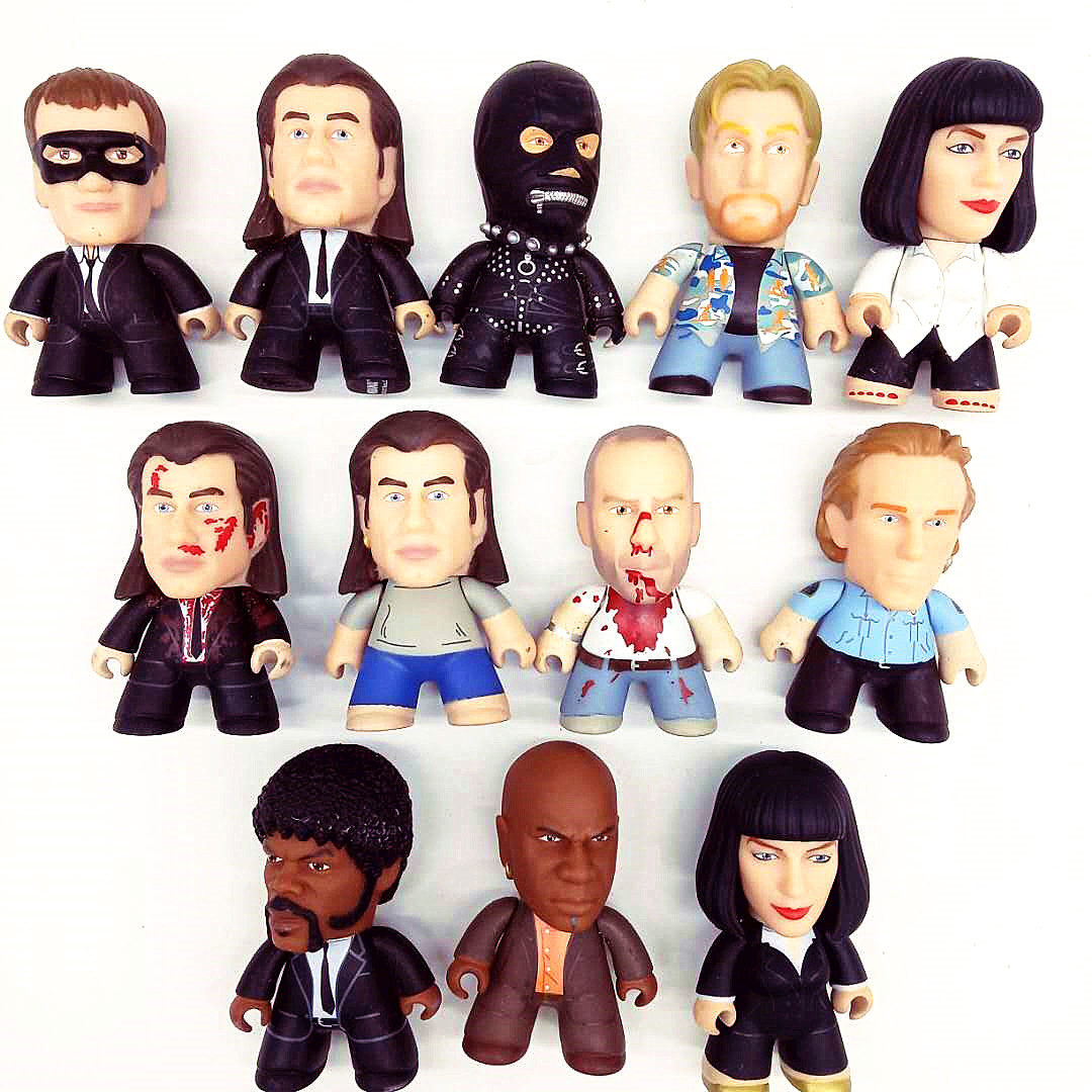 Pulp Fiction Vincent Mia The Gimp Pumpkin TV Movie Model Character Vinyl Action Figure Collection 3 Inch Gifts No Box
