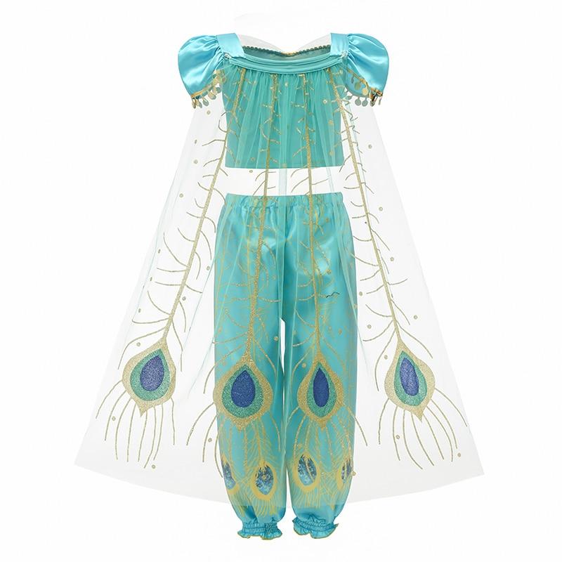 Hf2aa4717adfd4a029d75421d4f89c674H Fancy Girl Princess Dresses Sleeping Beauty Jasmine Rapunzel Belle Ariel Cosplay Costume Elsa Anna Sofia Children Party Clothes