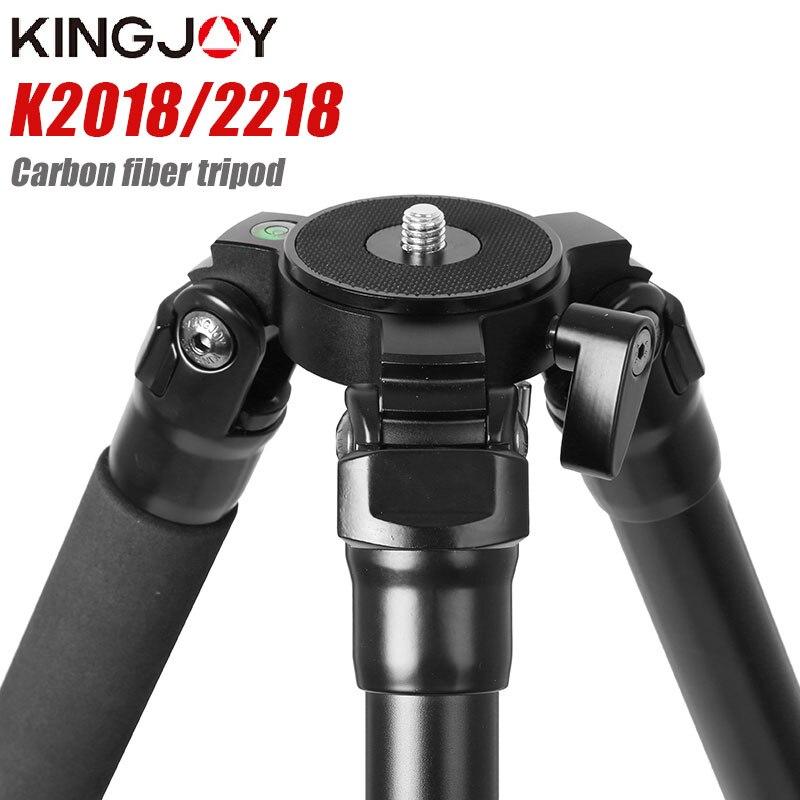 KINGJOY K2018/2218 poids léger trépied professionnel pour appareil photo numérique tripode adapté pour voyage support de caméra de qualité supérieure