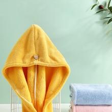 Girls Towel Turban Head-Wrap Hair-Hat Bathing-Tools Microfiber Quick-Drying Womens