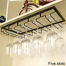 Wine Rack Kitchen Iron Metal Craft 3/4/5 Rows Steamware Hanger Wine Glass Holder Decorative Steamware Rack for Cup Storage 3 ft 5 column wine rack premium redwood unstained