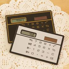 Jakcom калькулятор ультра тонкий мини кредитной карты 8-значный Портативный Солнечная приведенная в действие карманный калькулятор