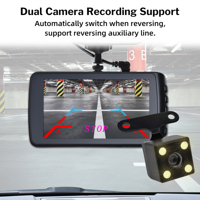 Deelife Dash Cam Car DVR Camera Full HD 1080P Drive Video Recorder Registrator Auto Dashboard 1296P Dual Dashcam Black DVRs Box 6