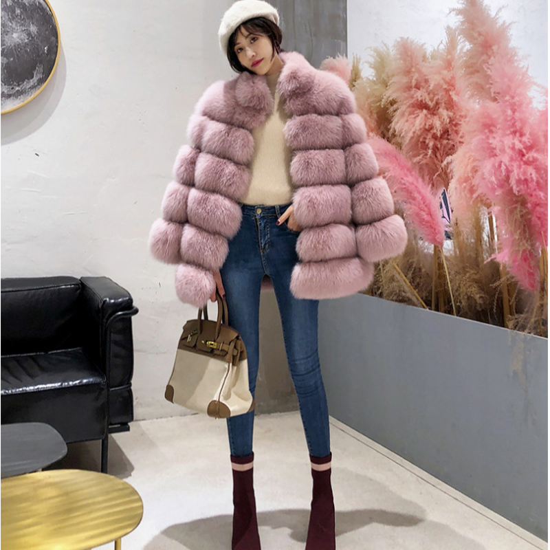 Real Fur Cropped Maternity Wear Winter Coat Warm Real Luxury Faux Fur Coat Women Maternity Coat Winter Pregnant Women Clothing