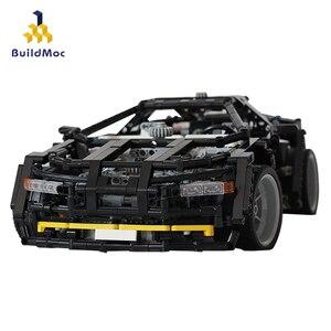 BuildMoc 1600 шт. Супер гоночный автомобиль строительные блоки техника спортивный гонщик автомобиль суперкар дети скорость кирпичи игрушки пода...