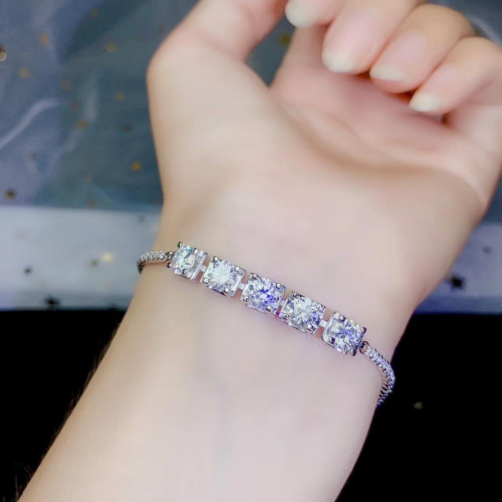 special for u shinning Moissanite gemstone bracelet women jewelry 925 silver birthday banquet gift shiny better than diamond