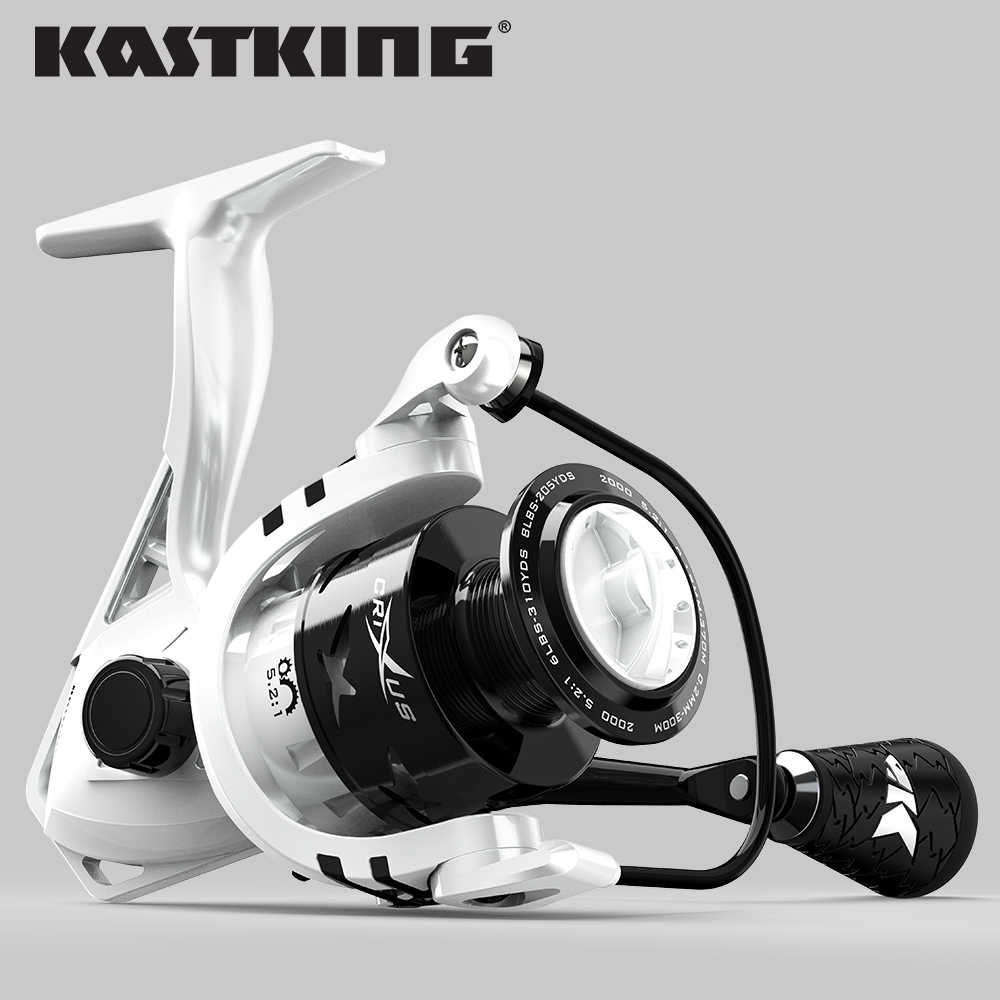 KastKing Crixus 9 كجم ماكس السحب الغزل الصيد بكرة الجرافيت الجسم ألياف الكربون سحب غسالة 5.2:1/4.5:1 نسبة والعتاد الصيد لفائف
