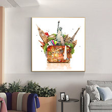 Картина маслом на холсте всемирно известная архитектура постер